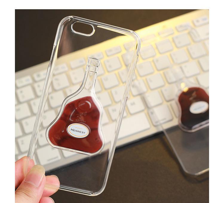 Чехол для iPhone с жидкостью Hennesy пластиковый
