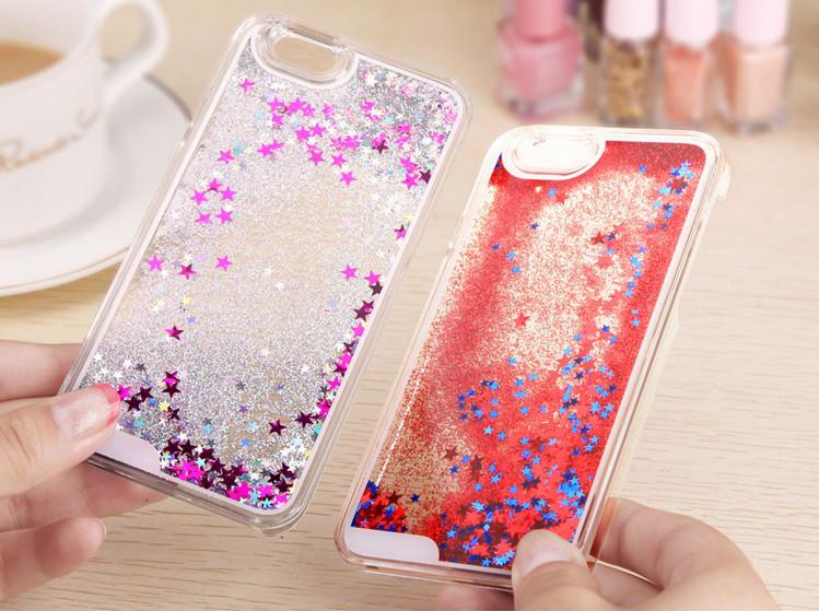 Чехол с блестками для iPhone переливаются в воде