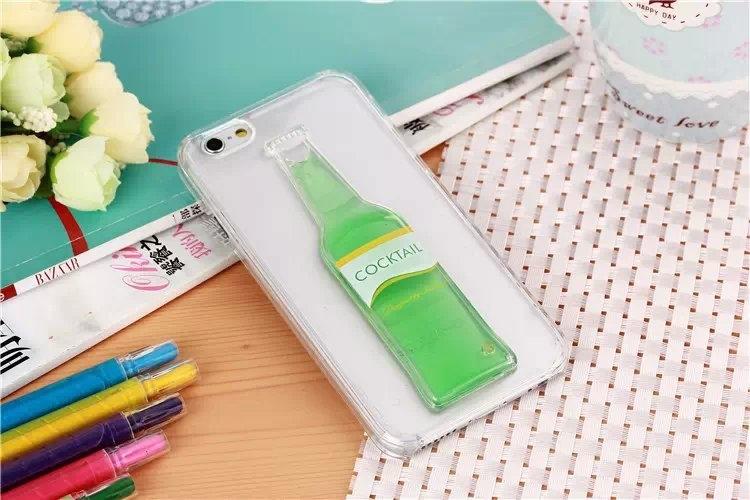 Гибкий чехол для Вашего iPhone 5, 6 с бутылкой зеленого цвета