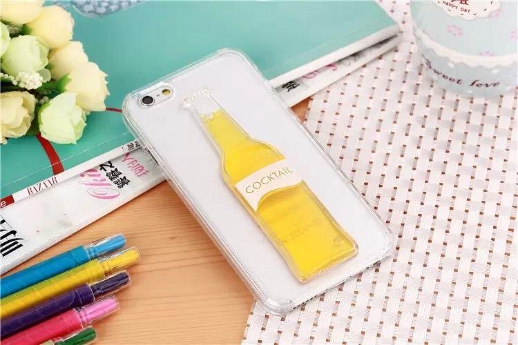 Гибкий чехол для Вашего iPhone 5, 6 с бутылкой желтого цвета