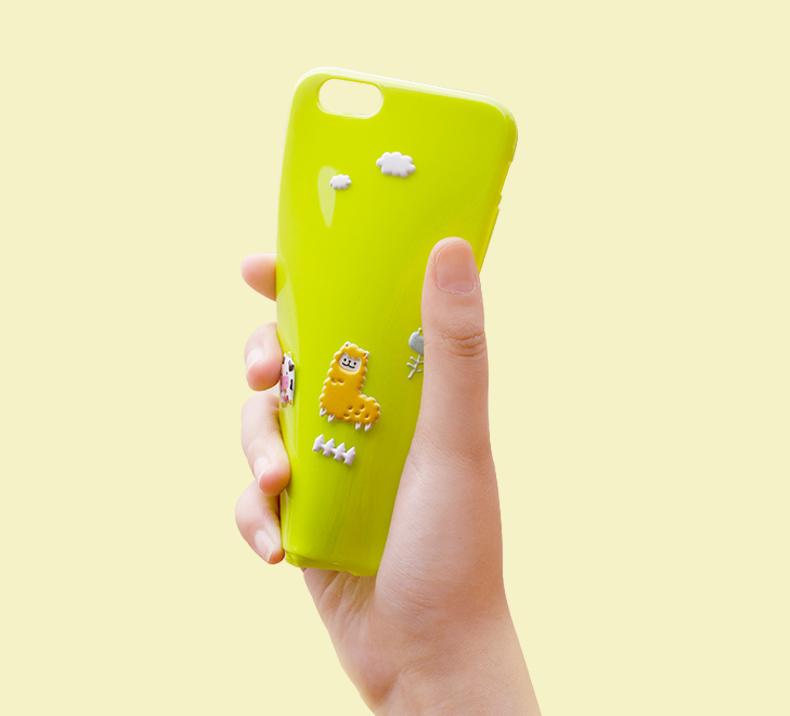 Гибкий, силиконовый чехол свой мультфильм на iPhone