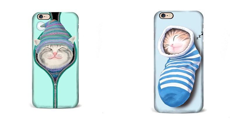 Чехол для iPhone две милые кошки