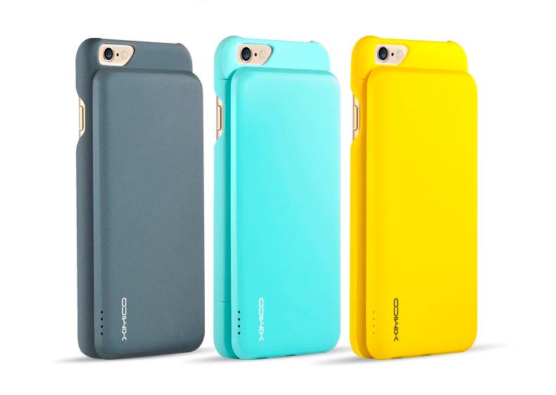 Портативное зарядное устройство и чехол - Power bank для iPhone 6 три цвета на выбор