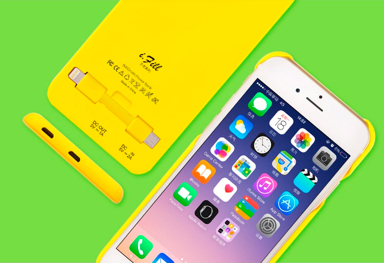 Портативное зарядное устройство и чехол - Power bank для iPhone 6 под наклоном