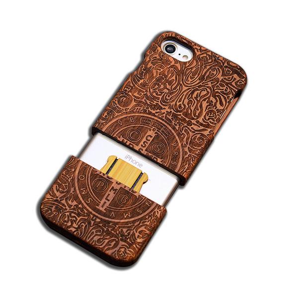 Деревянный чехол - чехол из дерева для iPhone - Святой Бенедикт