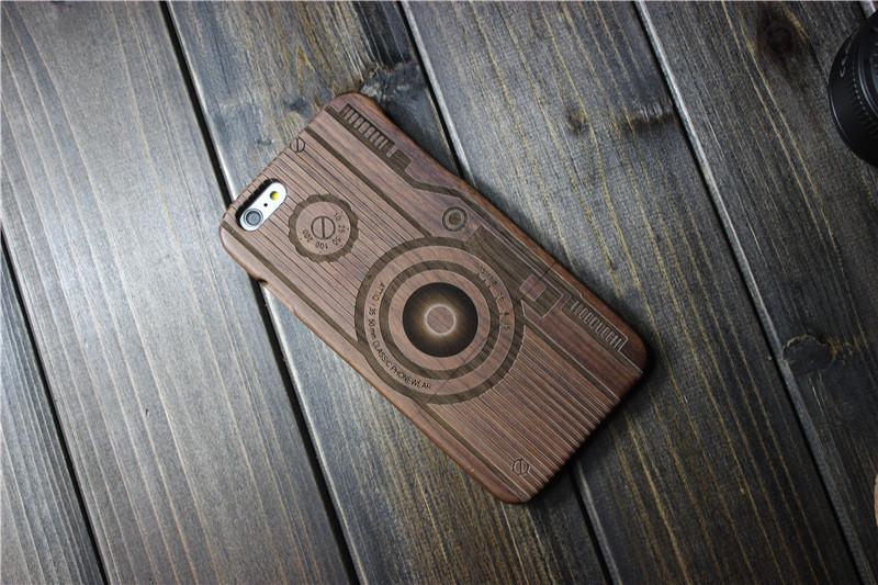 Деревянный чехол с рисунком фотоаппарата