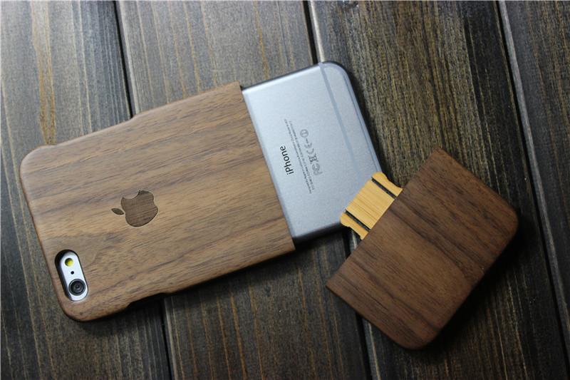 Чехол из натурального дерева для iPhone разборный
