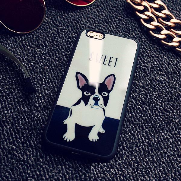 Французский Бульдог чехол для iPhone бульдог один
