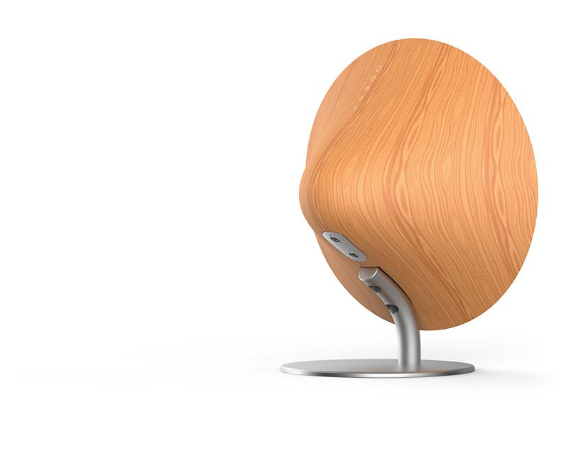 Деревянная Bluetooth колонка Solo One Emie вид сзади