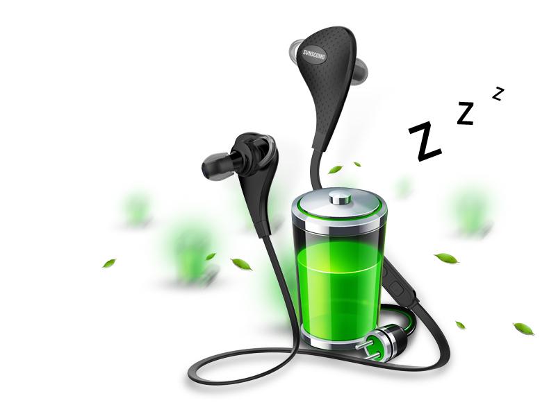 Bluetooth стерео наушники для смартфона с микрофоном экономия заряда в режиме ожидания