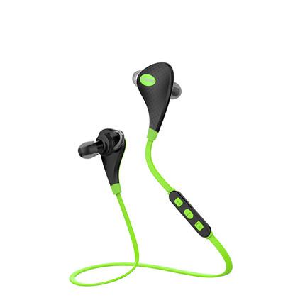 Bluetooth стерео наушники для смартфона с микрофоном зеленого цвета