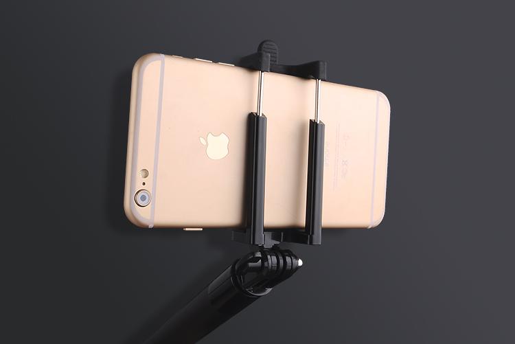 Мини селфи палка для смартфона телефон в крепеже