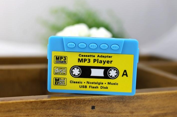 MP3-плеер в виде аудио-кассеты - голубой