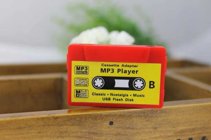 MP3-плеер в виде аудио-кассеты - красный