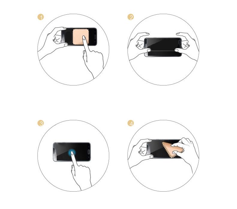 Интсрукция по наклейке зеркального чехла с закаленным покрытием для iPhone