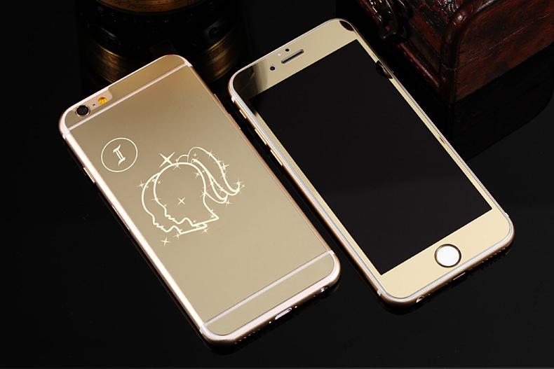 Зеркальный чехол для iPhone 6 знаки зодиака - Близнецы