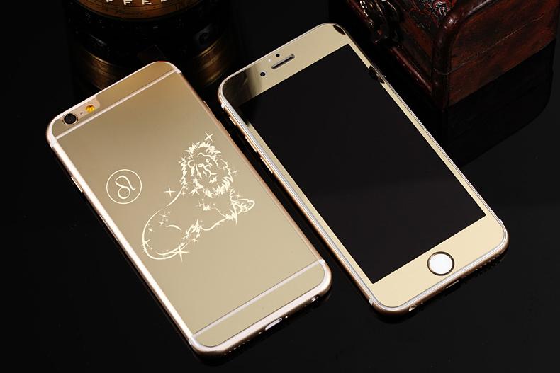 Зеркальный чехол для iPhone 6 знаки зодиака - Лев