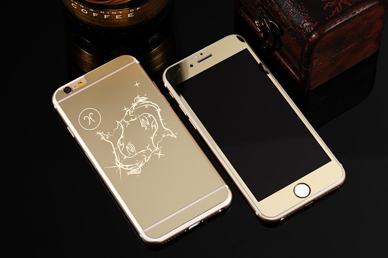 Зеркальный чехол для iPhone 6 знаки зодиака - Рыбы