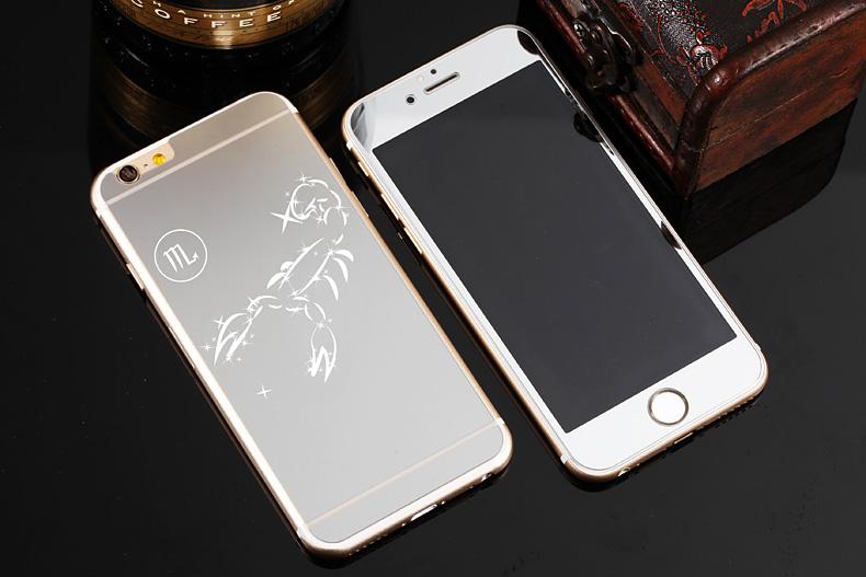 Зеркальный чехол для iPhone 6 знаки зодиака - Скорпион серебро
