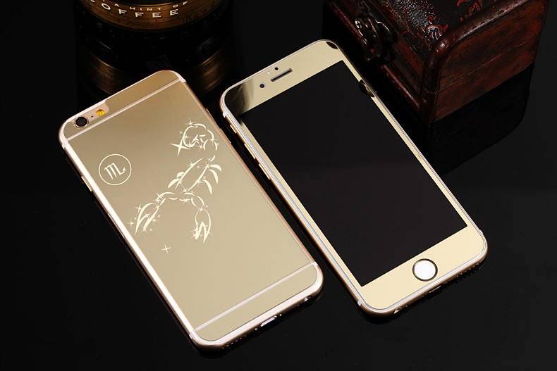 Зеркальный чехол для iPhone 6 знаки зодиака - Скорпион