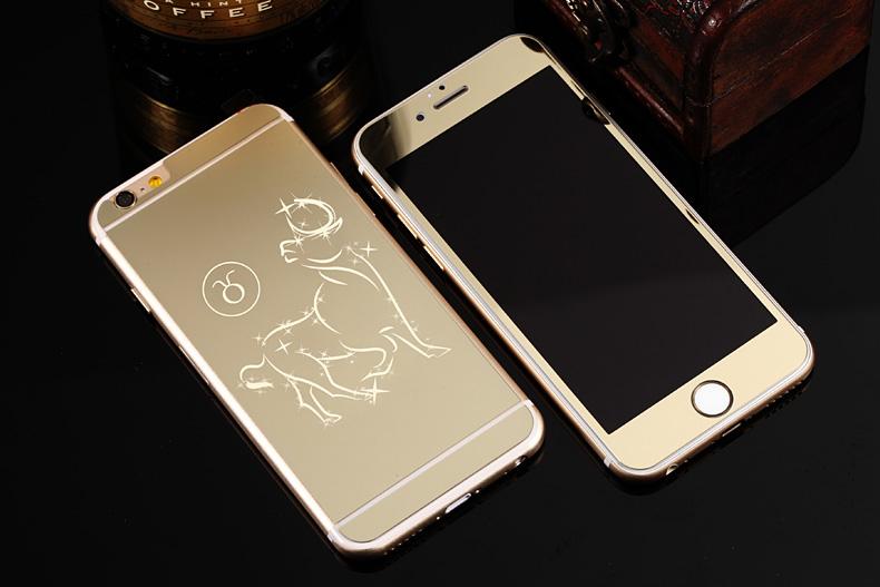 Зеркальный чехол для iPhone 6 знаки зодиака - Телец