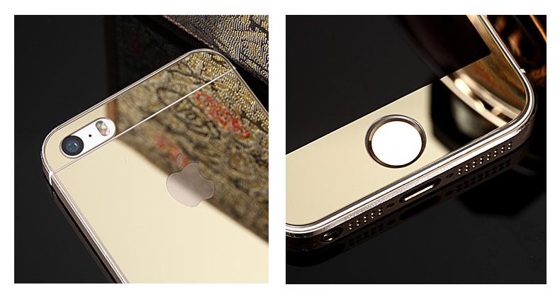 Зеркальный чехол с закаленным покрытием для iPhone в деталях